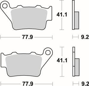 SBS 675 HF motocyklowe klocki hamulcowe komplet na 1 tarcz - 2822442823