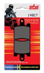 SBS 146 CT motocyklowe skuterowe klocki hamulcowe komplet na 1 tarcz - 2822442951