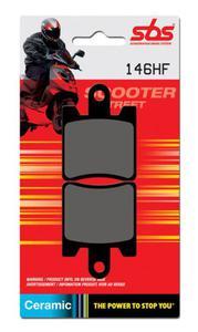 SBS 146 HF motocyklowe skuterowe klocki hamulcowe komplet na 1 tarcz - 2822442952