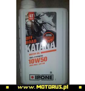 IPONE KATANA OFF ROAD 10W50 OLEJ SILNIKOWY 100% SYNTETYK 2L (ESTER, MA2) (800365) IPONE super CENY na oleje i chemię motocyklową sklep motocyklowy MOTORUS.PL - 2822457933