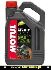 MOTUL 10W40 ATV-UTV EXPERT 4T olej motocyklowy silnikowy 4L MOTUL oleje silnikowe i chemia motocyklowa PROMOCYJNE CENY sklep motocyklowy MOTORUS.PL - 2822457996