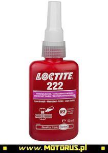 LOCTITE 222 ŁATWY środek klej do zabezpieczania gwintów 50ml LOCTITE kleje do gwintów i śrub PROMO CENY sklep motocyklowy MOTORUS.PL - 2822459384