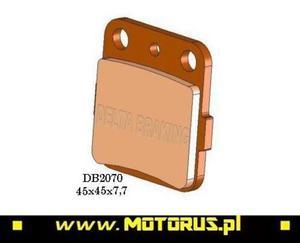 DELTA BRAKING DB2070QD-D klocki hamulcowe KH84 DELTA BRAKING motocyklowe klocki tarcze hamulcowe PROMO CENA sklep motocyklowy MOTORUS.PL - 2822460246