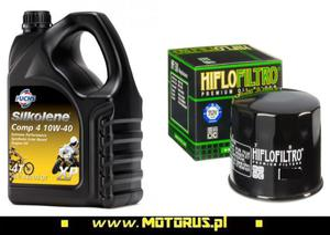 SILKOLENE COMP 4 10W40 XP 4T olej silnikowy motocyklowy 4 Litry + FILTR OLEJU HF FUCHS Silkolene olej silnikowy w NAJLEPSZEJ CENIE w sklepie motocyklowym MOTORUS.PL - 2864755506