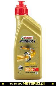 CASTROL POWER1 4T 15W50 motocyklowy olej silnikowy p - 2822472248