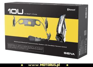 SENA 10U-SH-03 interkom BLUETOOTH 4.1 do 1600M FM motocyklowy do kasku SHOEI J-CRUISE 1 zestaw z pilotem SENA najlepszy ceny z rabatem sklep motocyklowy MOTORUS.PL - 2822473072