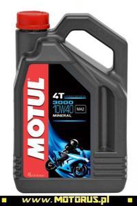 MOTUL 3000 4T 10W40 motocyklowy olej silnikowy MINERALNY 4L MOTUL chemia motocyklowa oleje motocyklowe SUPER CENY sklep motocyklowy MOTORUS.PL - 2840694326