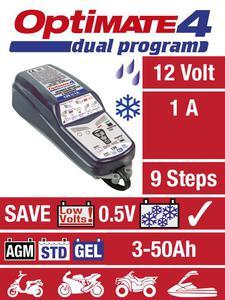 TECMATE OPTIMATE 4 SAE DUAL 12V (2-50Ah) 1A motocyklowa ładowarka do akumulatora prostownik (BMW - NALEZY DOKUPIĆ CAN-BUS) ŁADOWARKA PROSTOWNIK do akumulatorów motocyklowych sklep motocyklowy MOTORUS.PL - 2843355719