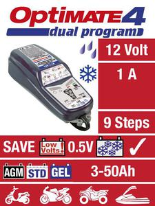TECMATE OPTIMATE 4 SAE DUAL motocyklowa ładowarka do akumulatora prostownik 12V (2-50Ah) (BMW - NALEZY DOKUPIĆ CAN-BUS) ŁADOWARKA PROSTOWNIK do akumulatorów motocyklowych sklep motocyklowy MOTORUS.PL - 2843355719