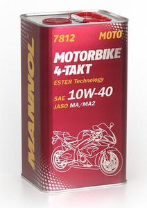 MANNOL 7812 4-TAKT MOTORBIKE 10W40 Ester motocyklowy olej silnikowy METALOWA puszka 4L MANNOL super cena na olej silnikowy do motocykli w sklepie motocyklowym MOTORUS.PL - 2843355863