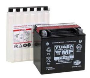 YUASA YTX14-BS 12V 12,6Ah 200A L+ bezobsługowy akumulator motocyklowy SUCHY z elektrolitem YUASA akumulatory baterie motocyklowe SUPER CENY sklep motocyklowy MOTORUS.PL - 2844958669