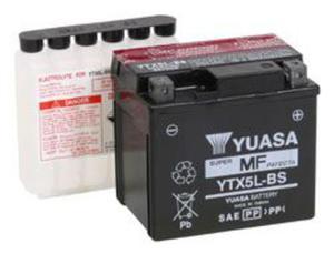 YUASA YTX5L-BS 12V 4,2Ah 80A P+ bezobsługowy akumulator motocyklowy SUCHY z elektrolitem YUASA akumulatory baterie motocyklowe SUPER CENY sklep motocyklowy MOTORUS.PL - 2844958676