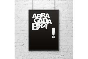 Plakat dekoracyjny 50x70 cm ABRACADABRA czarny - 2880980237