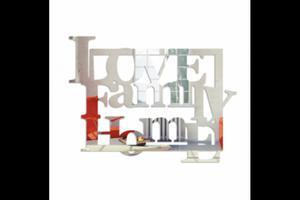 Lustro dekoracyjne LOVE FAMILY HOME plexi - 2880980241
