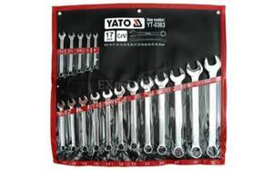 Klucze płasko-oczkowe YATO kpl. 17szt. 8 - 32mm 0363 - 2825957499