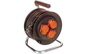 Przedłużacz bębnowy AS Schwabe 25m przewody 2,5mm2 AS810132 - 2825958690
