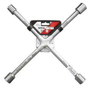 Klucz krzyżakowy do kół YATO 17 x 19 x 21 x 22mm stal CrV - 2825956739