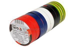 Taśma izolacyjna Yato 10m 12mm pakiet 10 sztuk 5 kolorów YT-8156 - 2825959004
