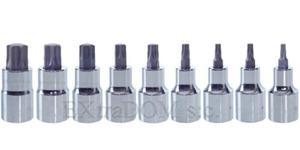 Klucze nasadowe - bitonasadki TORX 1/2'' Proline kpl. 9 szt. - 2825960029