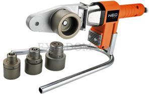 Zgrzewarka do rur z tworzyw sztucznych PE, PP, PB Neo Tools + 4 tuleje grzewcze 21-001 - 2825960214