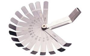 Szczelinomierz listkowy gięty 100mm, 16 listków, 0,05 - 1mm, SATA 09402 - 2825960650