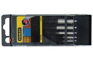 Wykrętaki do urwanych śrub Stanley kpl. 5 szt. M3 - M18 STA57000 - 2825960790