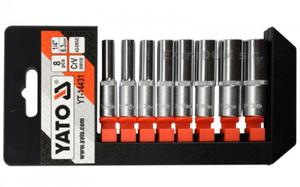 Klucze nasadowe, nasadki YATO 1/4'' 8cz długie - 1443 - 2825956614