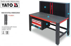 Nogi do stołu warsztatowego Yato długie kpl. 2 szt YT-08921 - 2825961130