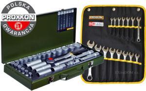 Zestaw narzędzi Proxxon 44cz. klucze nasadowe 23000 + płasko-oczkowe 23821F Polska Gwarancja - 2825961199