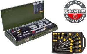 Proxxon + Stanley SUPER zestaw narzędzi 65 części 23040 + 65-005 - 2825961206