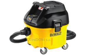 DEWALT Odkurzacz przemysłowy 1400W, gniazdo 230V, 30 l, klasa L, system automatycznego czyszczenia filtra, DWV901L-QS - 2825961424