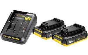 Stanley zestaw ładowarka + 2 akumulatory 2.0Ah 18V FMC693D2-QW - 2825962125