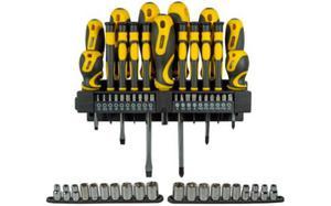 Zestaw narzędzi Stanley kpl 57 szt + wieszak 621430 - 2839131182