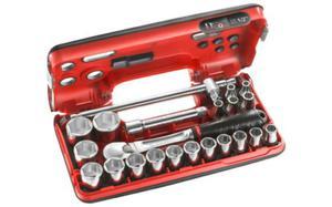 """Klucze nasadowe Facom zestaw nasadek 6-kątnych 8-32mm 22 cz. 1/2"""" SL.DBOX4 - 2850408010"""