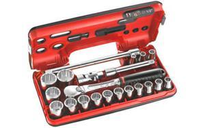 """Klucze nasadowe Facom zestaw nasadek 12-kątnych 8-32mm 1/2"""" 21 cz. SL.DBOX112 - 2850408011"""