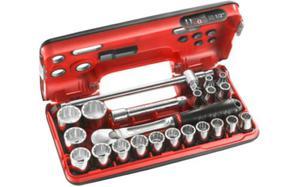 """Klucze nasadowe Facom zestaw nasadek 12-kątnych 8-32mm 1/2"""" 22 cz. SL.DBOX412 - 2850408012"""