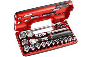 """Klucze nasadowe Facom 1/2"""" z grzechotką przedłużaną 21 cz. 8-32mm Facom SXL.DBOX1 - 2850408015"""