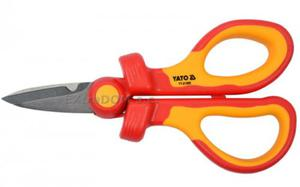Izolowane nożyczki dla elektryków 160mm VDE YATO YT-21200 - 2858323168
