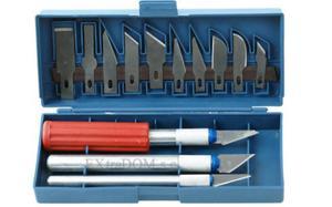 Nożyki precyzyjne, skalpele, kpl. 16 części - 2868024729