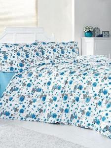 Brielle pościel bawełniana w niebieskie róże 200x220 - 2832870780