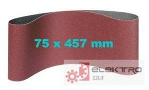 Pas ścierny bezkońcowy do elektronarzędzi LS 307X 75x457mm (granul.40-150)