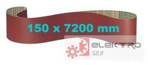 Pas ścierny bezkońcowy papierowy PS 23F 150x7200mm (granul.60-150)