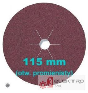 Krążek ścierny fibrowy CS 561 115x22mm otwór promienisty (granul. 16-120)