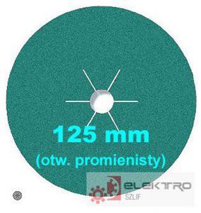 Krążek ścierny fibrowy CS 570 ze spoiwem MULTI 125x22mm otwór promienisty (granul.36-120)