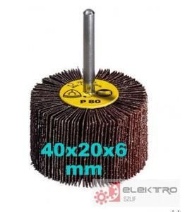 KM 613 ściernica listkowa trzpieniowa 40x20x6(trzpień)mm (granul.40-320)