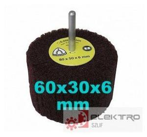 NFS 600 Ściernica listkowa trzpieniowa z włókniny 60x30x6(trzpień)mm (granul.80-320)