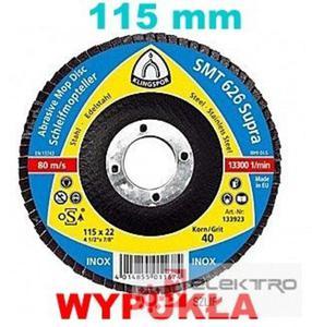 Ściernica listkowa talerzowa Klingspor SMT 626 Supra 115x22(otwór)mm (granul.36-120) WYPUKŁA