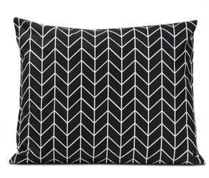 Poszewka bawełniana Geometric Black 50x60 - 2852130788