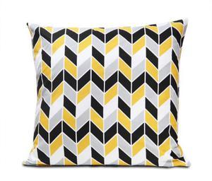Poszewka bawełniana Geometric Yellow 50x50 - 2877172647