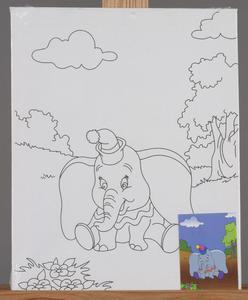 Podobrazie ze szkicem, farbki i paletka - SŁONIK - 2428998105